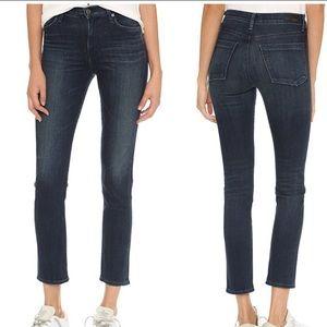 AGOLDE NWT Camile High Rise Slim Jade Wash Jeans